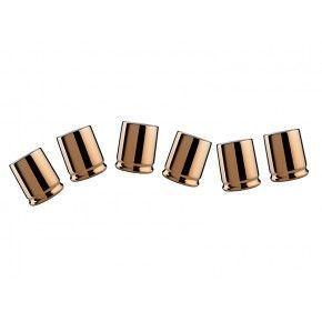 Viceversa Juego 6 Tazas de Café SHOTS GOLD