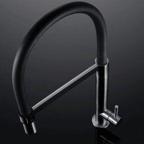 Grifo Tanaro negro D Bradano acero inox monomando ducha extraíble