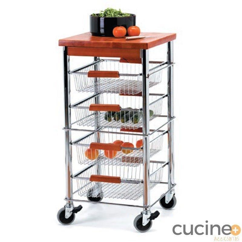 Carro de cocina verdure cucine accesorios for Carritos de cocina baratos