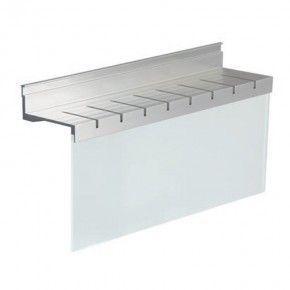 Portacuchillos en aluminio y cristal Linero Modern